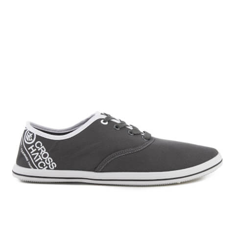 Crosshatch Men's Tsunami Canvas Pumps - Raven Grey