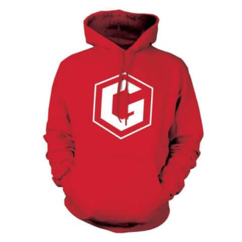 Sweat à Capuche Grian -Rouge