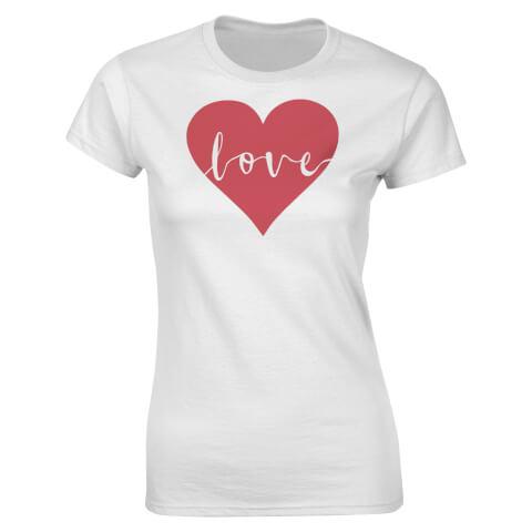 Love Heart Women's T-Shirt - White