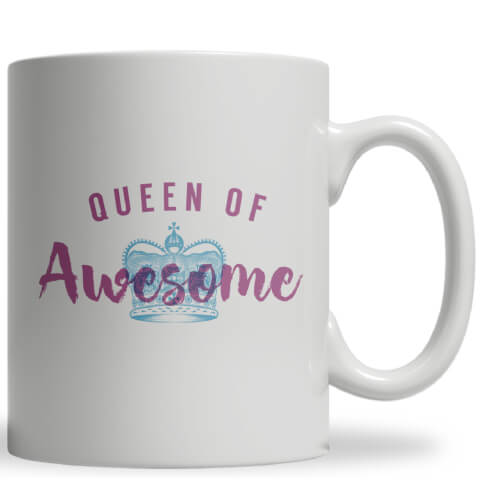 Queen of Awesome Ceramic Mug