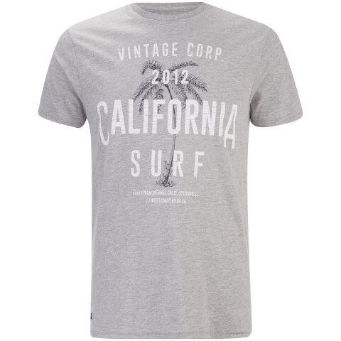 Threadbare Men's Paradise Crew Neck T-Shirt - Grey Marl