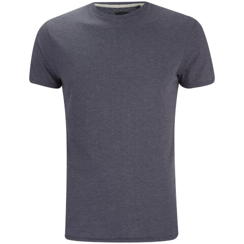 T-Shirt Homme William Col Rond Threadbare -Marine