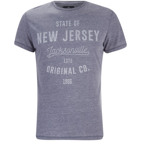 Threadbare Men's State Crew Neck T-Shirt - Navy