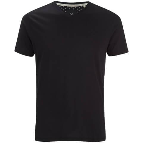 T-Shirt Homme Charlie Col V Threadbare -Noir
