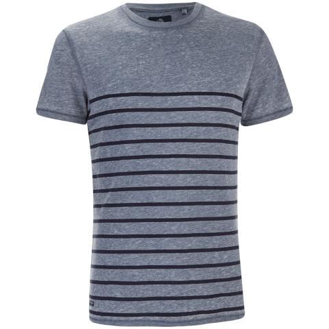 Threadbare Men's Matthews Crew Neck Stripe T-Shirt - Denim