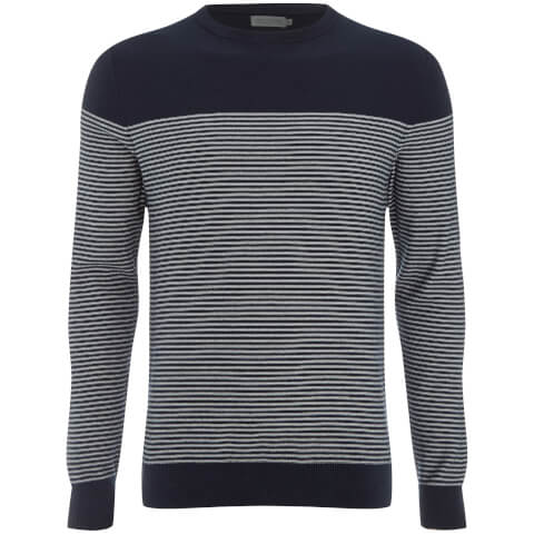 Jack & Jones Men's Core Boost Stripe Jumper - Sky Captain/White Stripes