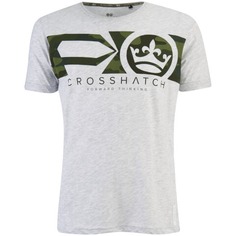Crosshatch Men's Pleione Camo T-Shirt - Grey Marl