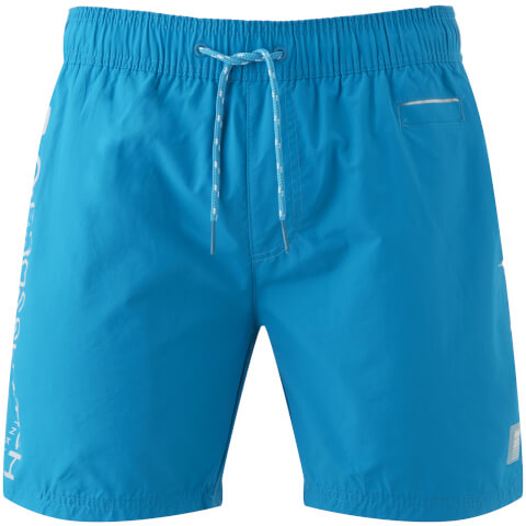 Short de Bain Homme Logo Jennis Crosshatch - Bleu Turquoise