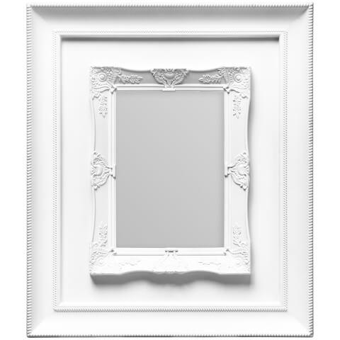 Cadre Rococo 13 cm x 18 cm -Blanc