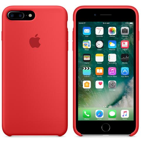 Apple iPhone 7 Plus Silicone Case - Red
