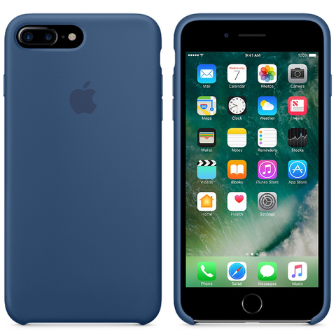 Étui en Cuir pour iPhone 7 Plus -Bleu Océan