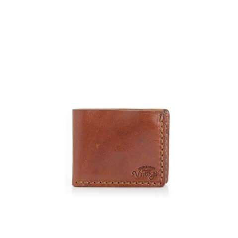 Jack & Jones Men's Vintage Leather Wallet - Cognac