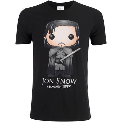 Game of Thrones Men's Jon Snow Funko T-Shirt - Black