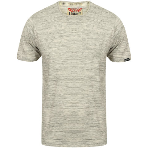 Tokyo Laundry Men's Textured Grotto T-Shirt - Grey Marl