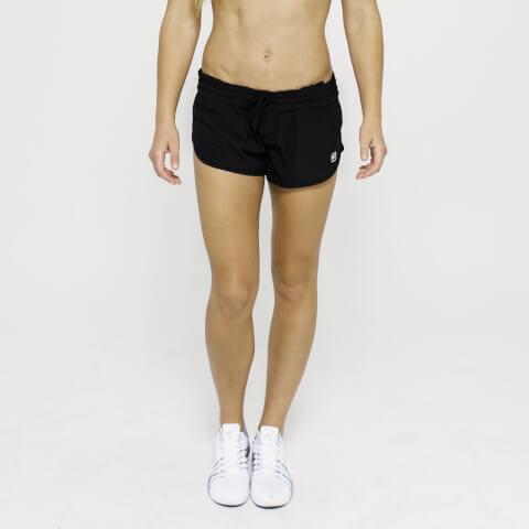 L - IdealFit 4-Way Stretch Shorts - Black