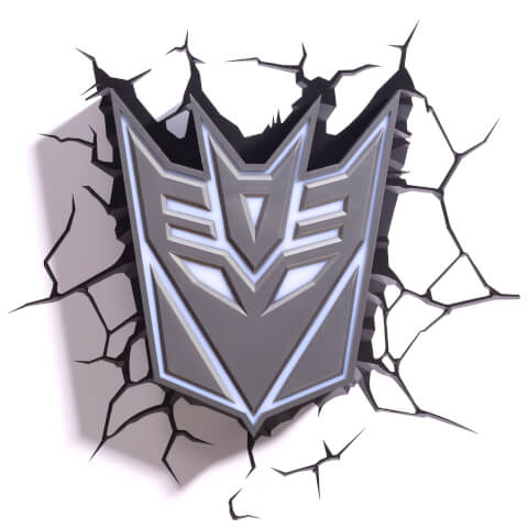 Lampe Murale 3D Transformers Bouclier Decepticon