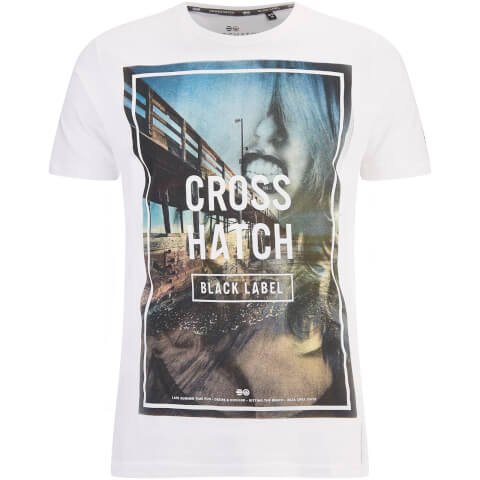 T-Shirt Homme Broadwalk Crosshatch -Blanc