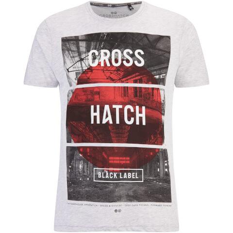 T-Shirt Homme Hotspot Crosshatch -Gris