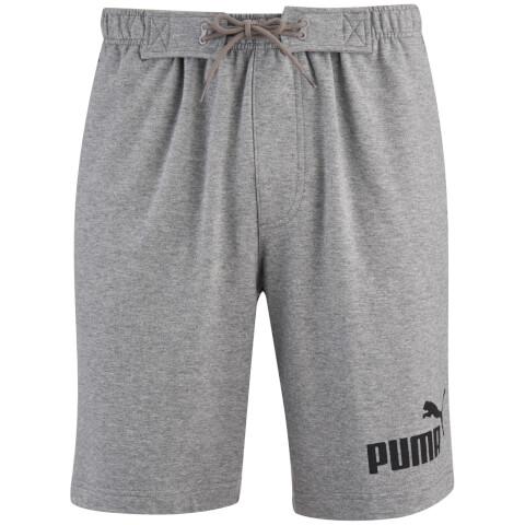 Puma Men's Logo Jog Shorts - Grey