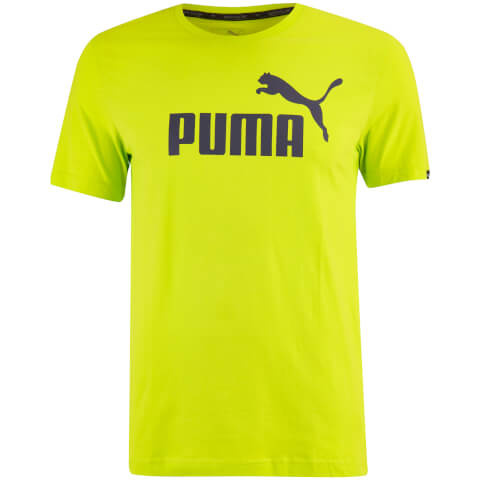 Puma Men's Essential Logo T-Shirt - Lime Punch