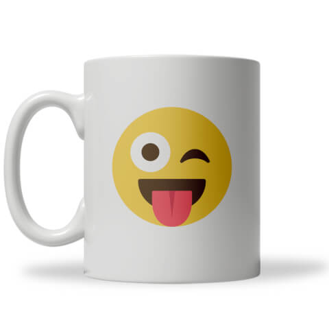 Winky Tongue Out Emoji Mug