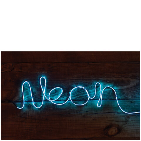 Make You Own Neon Effect Sign - Blue