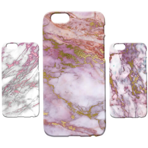 Marble Texture Phone Case for iPhone and Android - Pink Marbles
