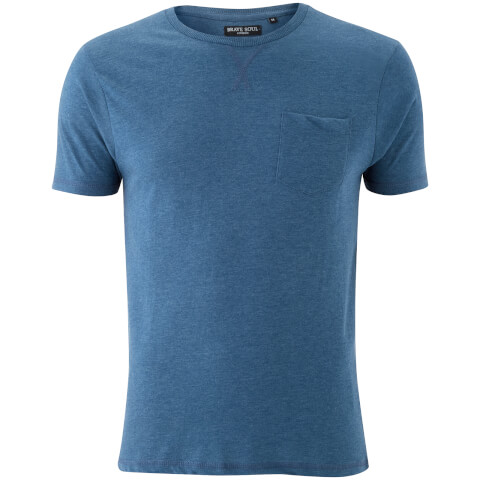 Brave Soul Men's Arkham Pocket T-Shirt - Vintage Blue Marl