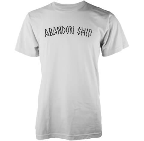 T-Shirt Homme Logo Abandon Ship -Blanc