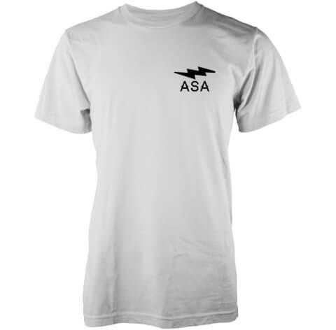 Abandon Ship Men's Lightning Bolt Chest Logo T-Shirt - White