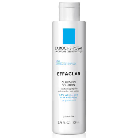 La Roche-Posay Effaclar Clarifying Solution Facial Toner for Acne Prone Skin with Salicylic Acid and Glycolic Acid, 6.76 Fl. Oz.