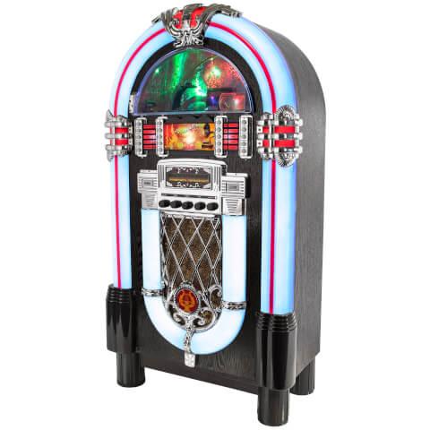 iTek Multi-Functional Bluetooth Jukebox with CD Player and AM/FM Radio - Black