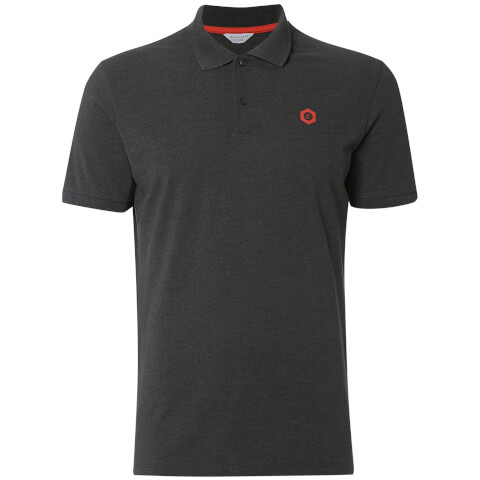 Jack & Jones Men's Core Booster Logo Polo Shirt - Charcoal