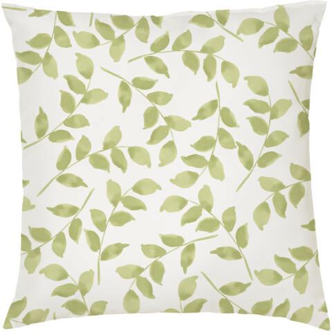 Leaves Cushion - White (45 x 45cm)