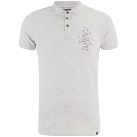 Smith & Jones Men's Parclose Polo Shirt - Light Grey Marl