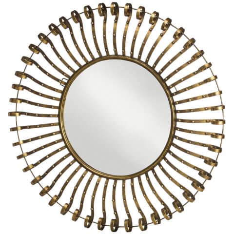 Premier Housewares Spoke Framed Wall Mirror