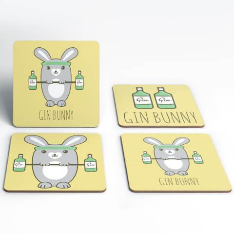 Gin Bunny Coasters