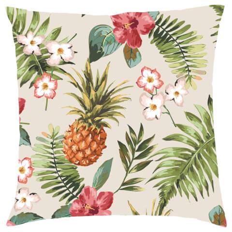 Tropical Pineapple Cushion - Cream