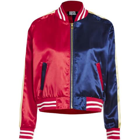 DC Suicide Squad Women's Varsity Jacket - Red/Blue