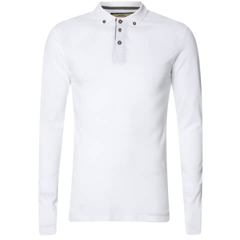 Advocate Men's Ralling Long Sleeve Polo Shirt - White