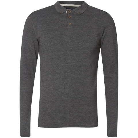 Advocate Men's Ralling Long Sleeve Polo Shirt - Charcoal Melange