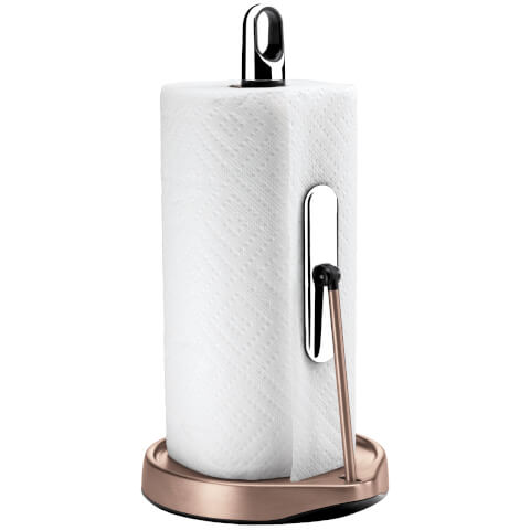 simplehuman Tension Arm Kitchen Roll Holder - Rose Gold
