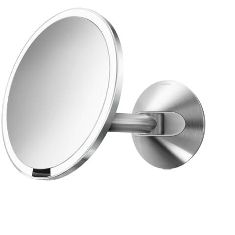 simplehuman Wall Mount Stainless Steel Hard-Wired Sensor Mirror 20cm