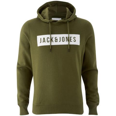 Sweat à Capuche Homme Core Bak Jack & Jones - Vert Olive