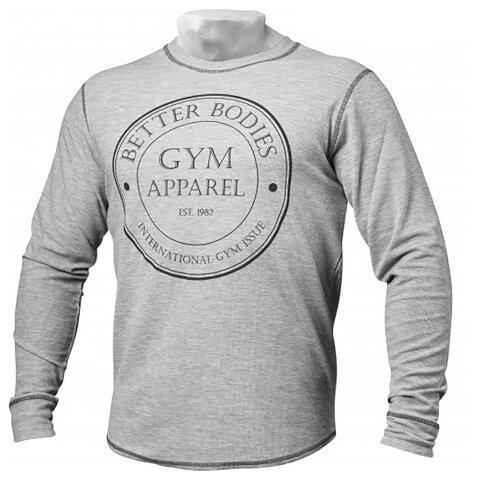 Better Bodies Tribeca Thermal Long Sleeve Sweatshirt - Grey Melange