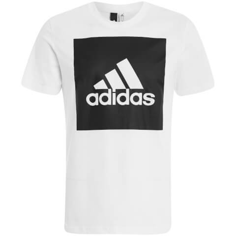 adidas Men's Essential Square Logo T-Shirt - White
