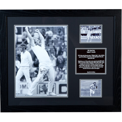 Sir Ian Botham Signed and Framed 16 x 12 Photograph