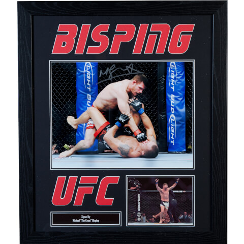 Michael Bisping UFC Champion Signed and Framed 16 x 12 Photograph