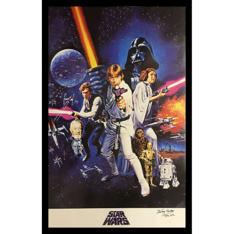 Star Wars Poster Signed by Kenny Baker (R2-D2)