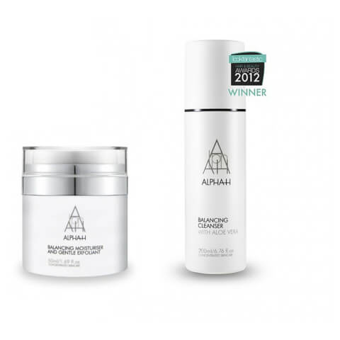 Alpha-H Balancing Cleanser 200ml + Balancing Moisturiser And Gentle Exfoliant 50ml Duo